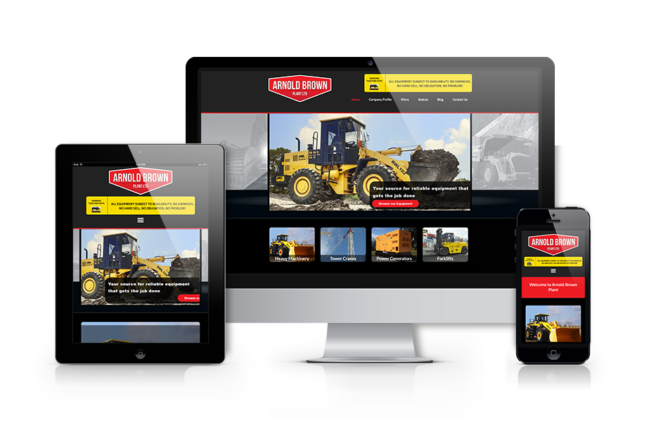 A responsive redesign of the Arnold Brown Website