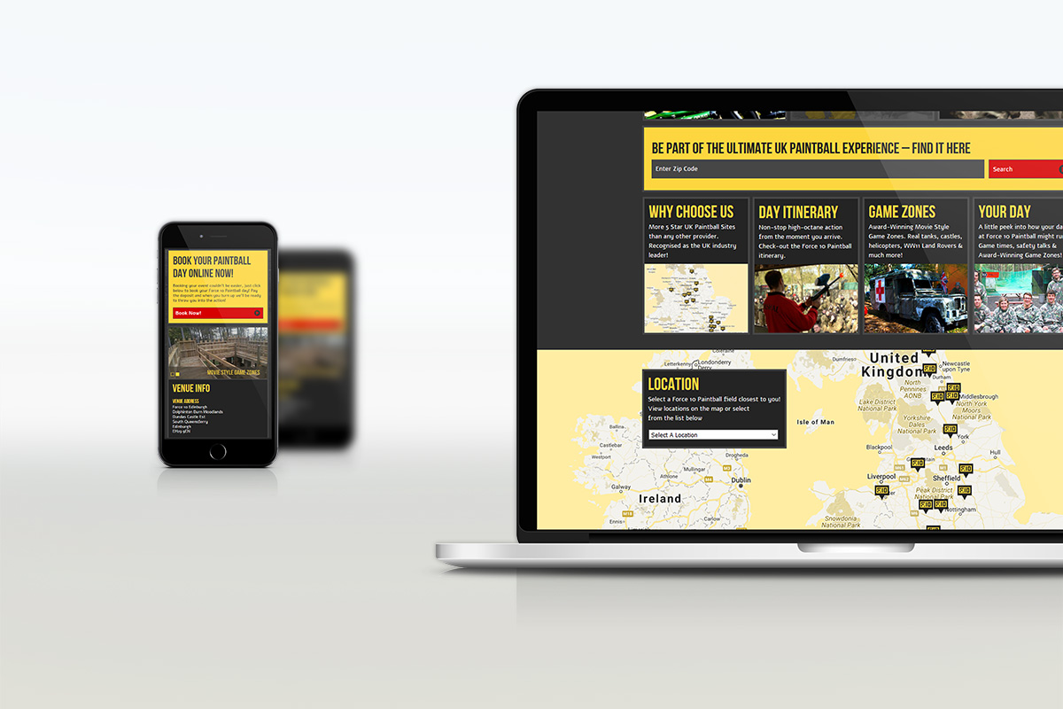 Force 10 Paintball Responsive Website